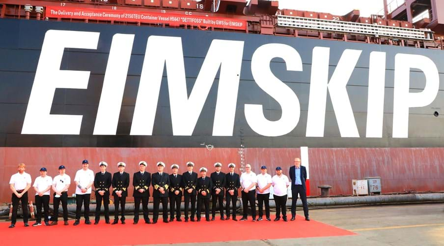 Eimskip takes delivery of new Dettifoss